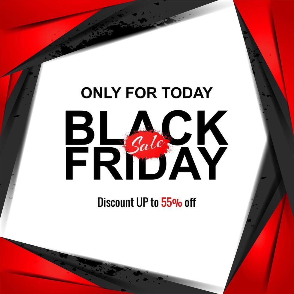 zwarte vrijdag verkoop banner gesneden papierstijl vector