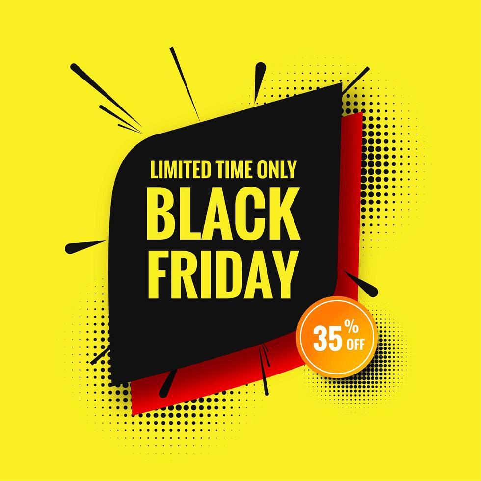 zwarte vrijdag verkoop heldere ontwerpsjabloon achtergrond vector