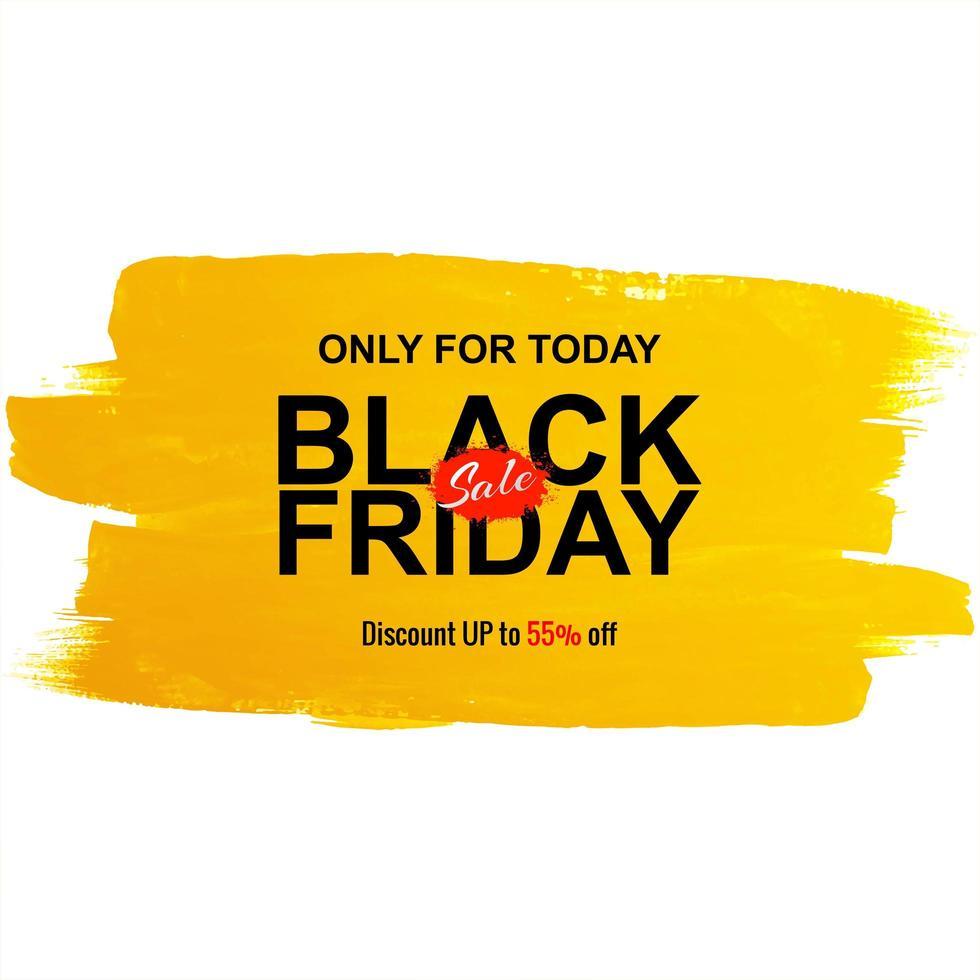zwarte vrijdag verkoop aquarel penseel poster vector