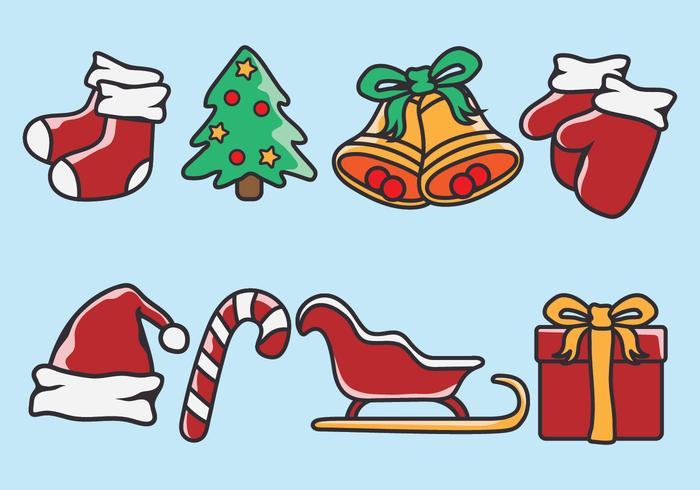Kerstpictogrammen vector