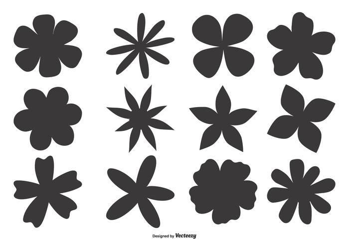 Hand getekende bloemvormen vector