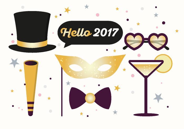 Hallo 2017 Nieuwjaar Vectorillustratie vector