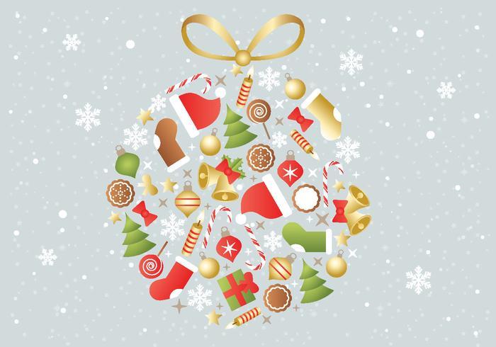 Gratis Kerst Achtergrond Vector