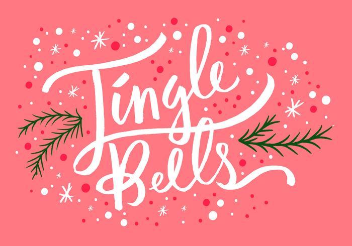 Jingle Bells Kerst lettering vector