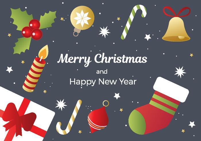 Gratis Kerst en Nieuwjaar Achtergrond Vector