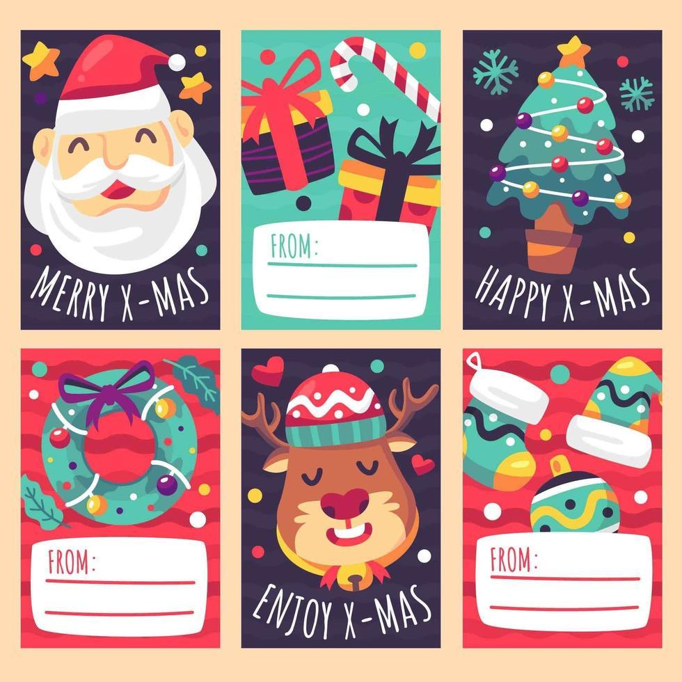 leuke kerstcadeaukaart vector