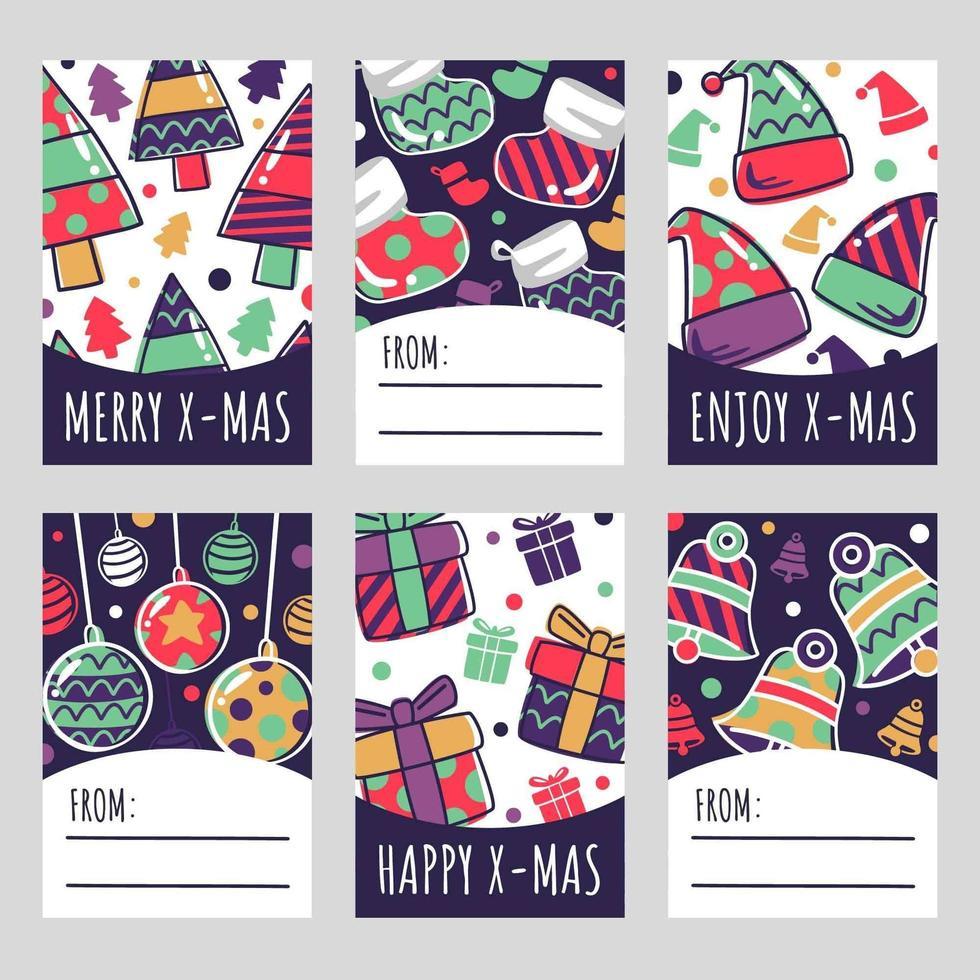 feestelijke kerst Geschenkenkaart vector