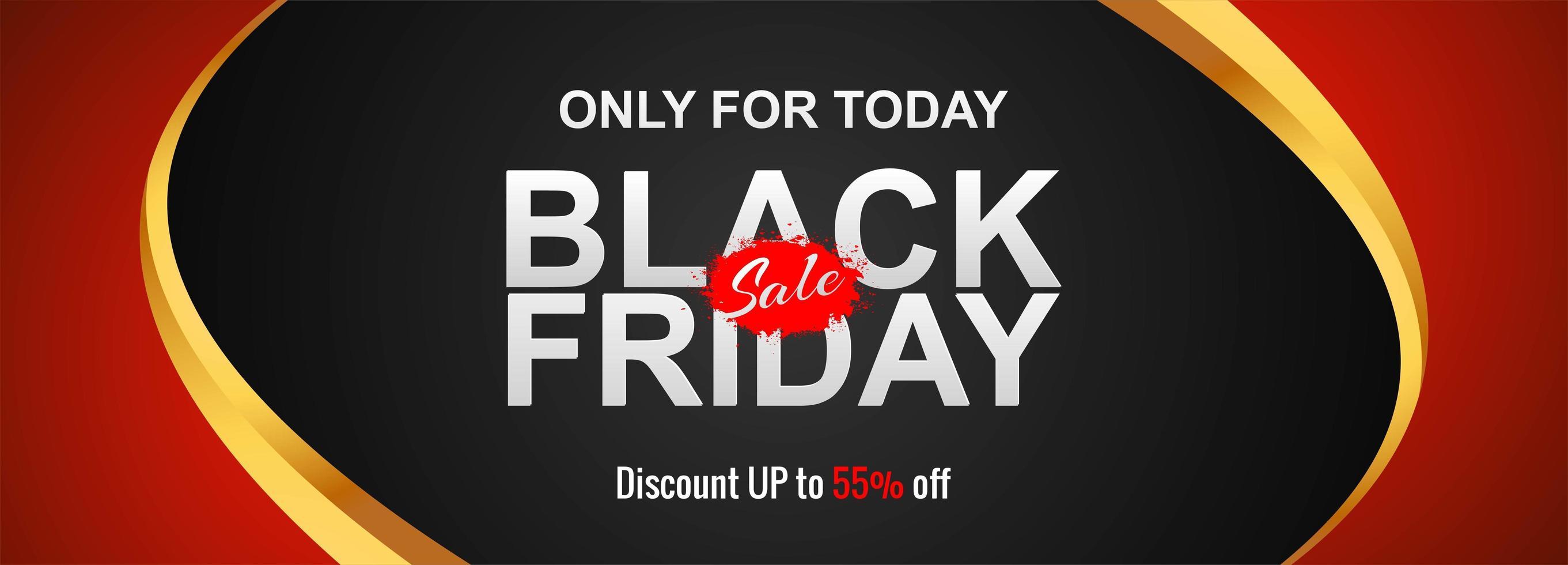 zwarte vrijdag verkoop concept banner achtergrond vector