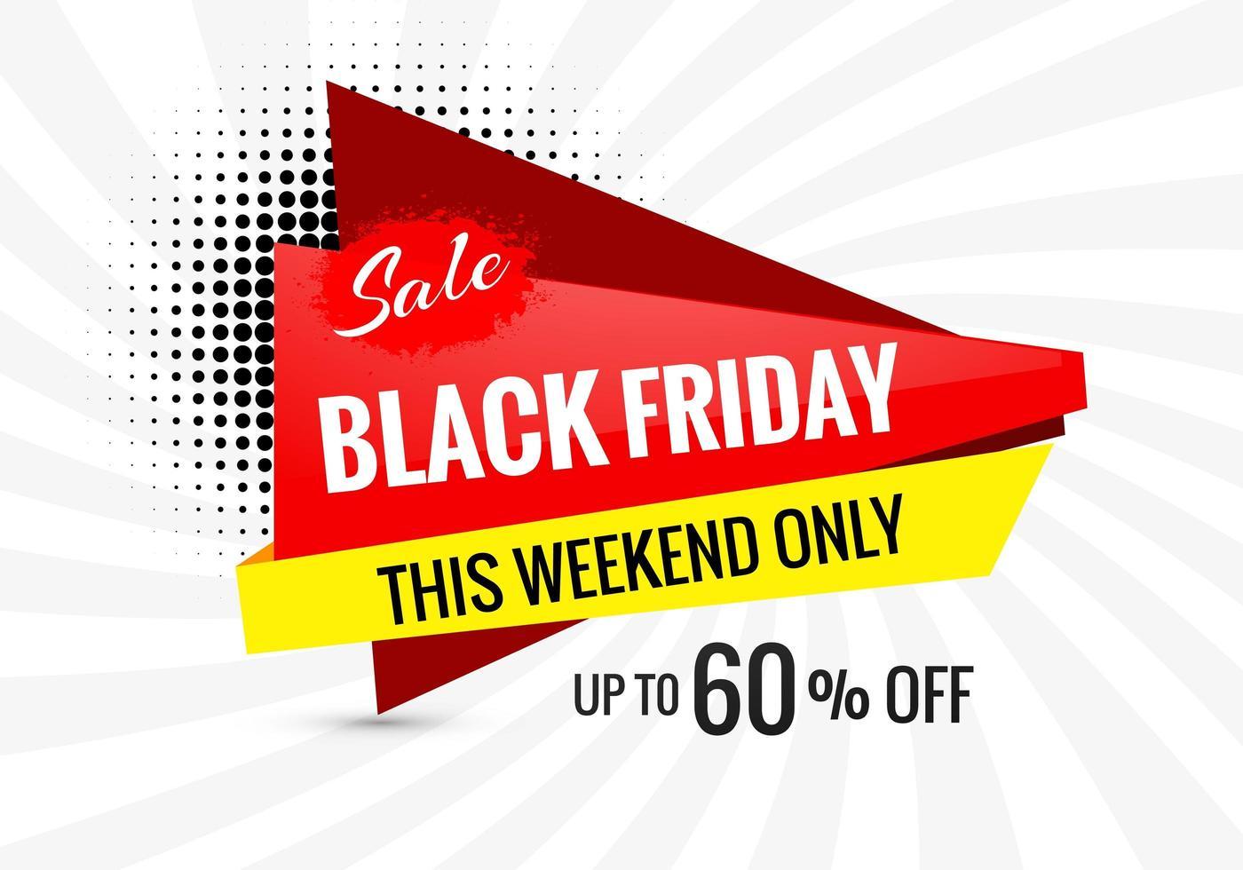 zwarte vrijdag promotie verkoop banner achtergrond vector