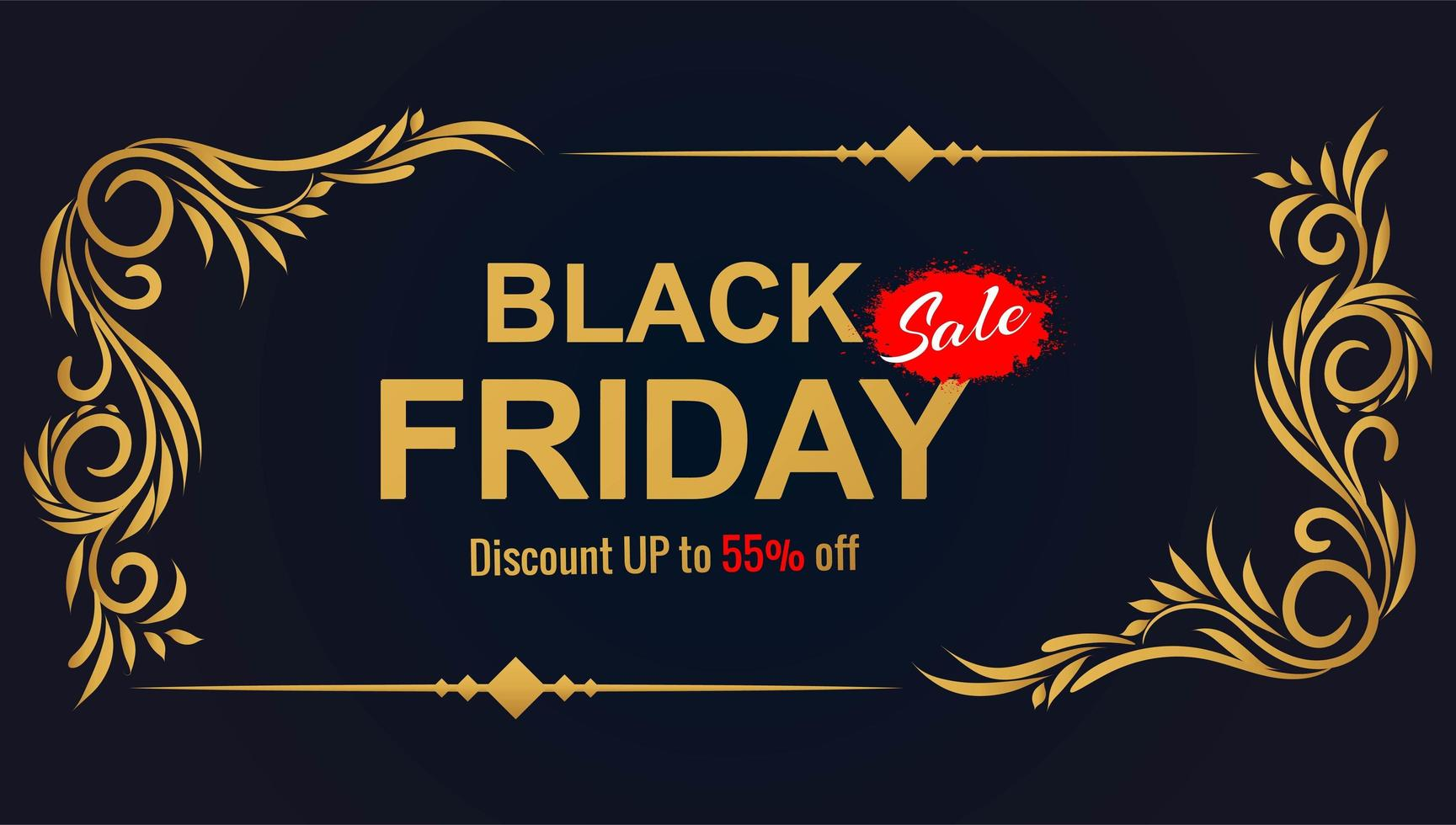 mooie zwarte vrijdag verkoop floral frame achtergrond vector