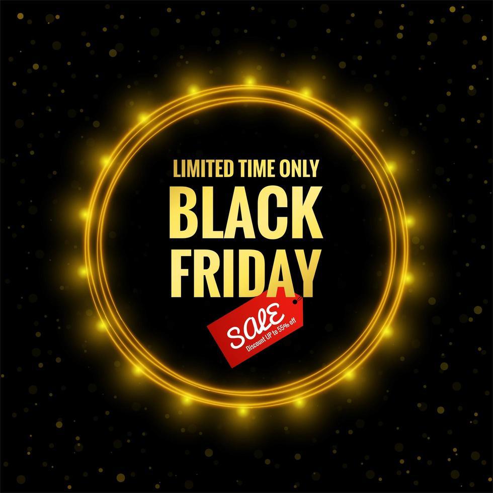 zwarte vrijdag verkoop poster achtergrond vector