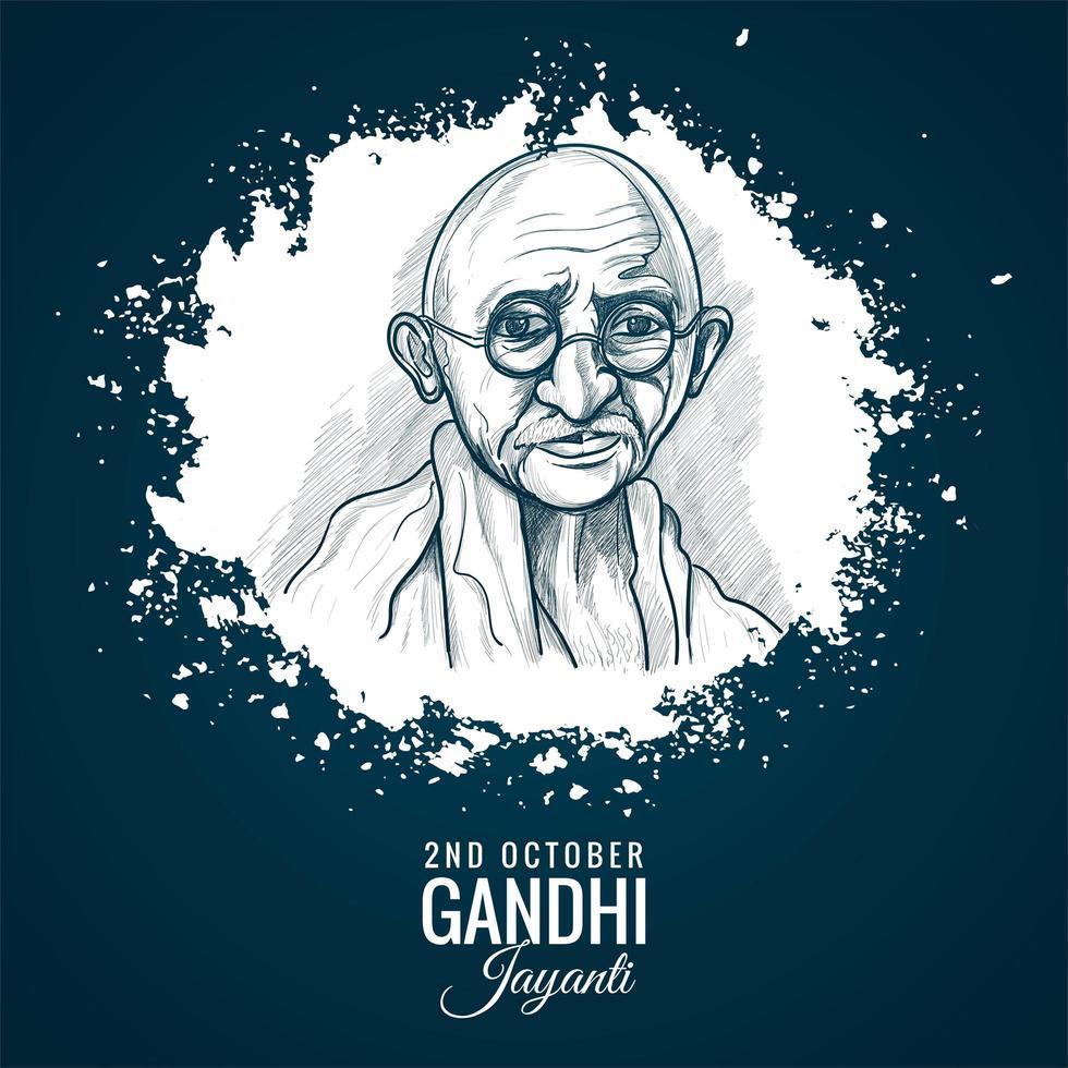 2 oktober mahatma gandhi jayanti voor posterachtergrond vector