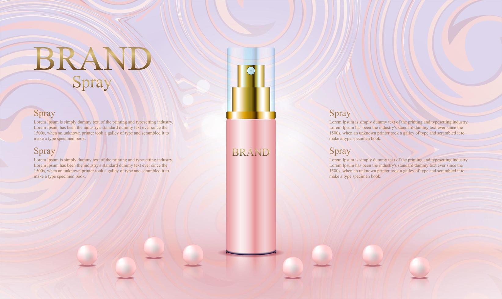 abstracte roze gouden achtergrond voor cosmetisch product vector