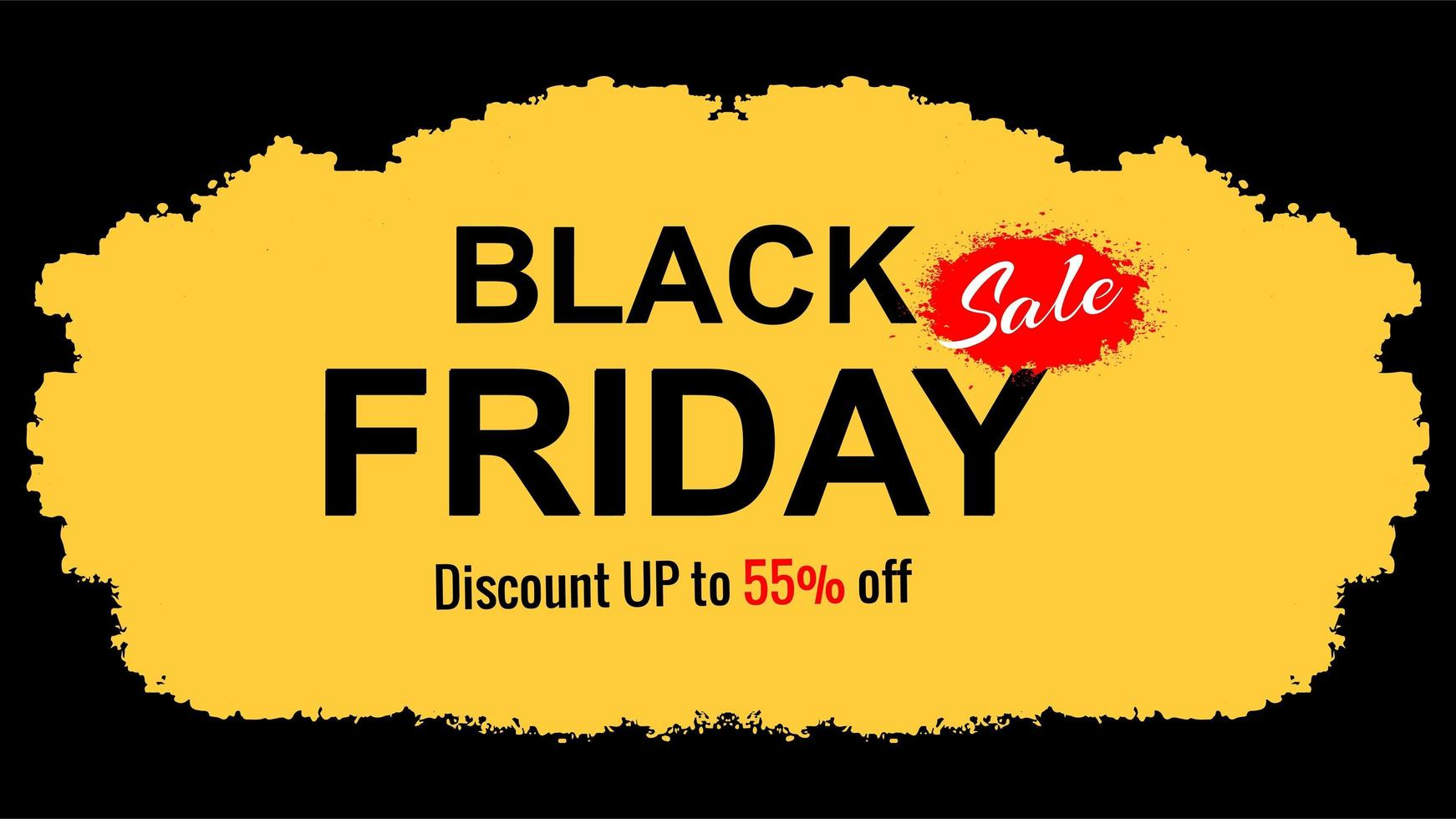 zwarte vrijdag verkoop beperkte aanbieding platte achtergrond vector