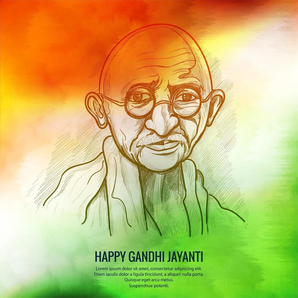 2 oktober Gandhi Jayanti achtergrond vector