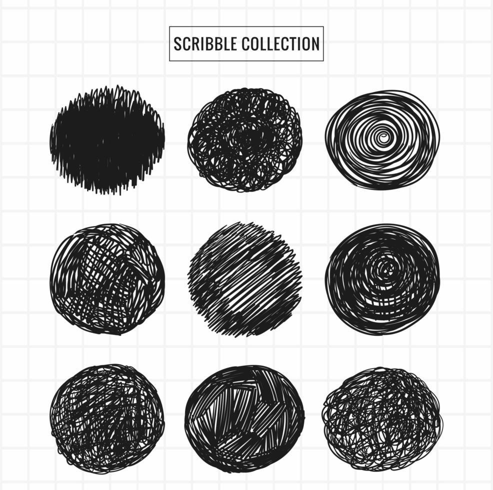 hand getrokken cirkel krabbels collectie set vector