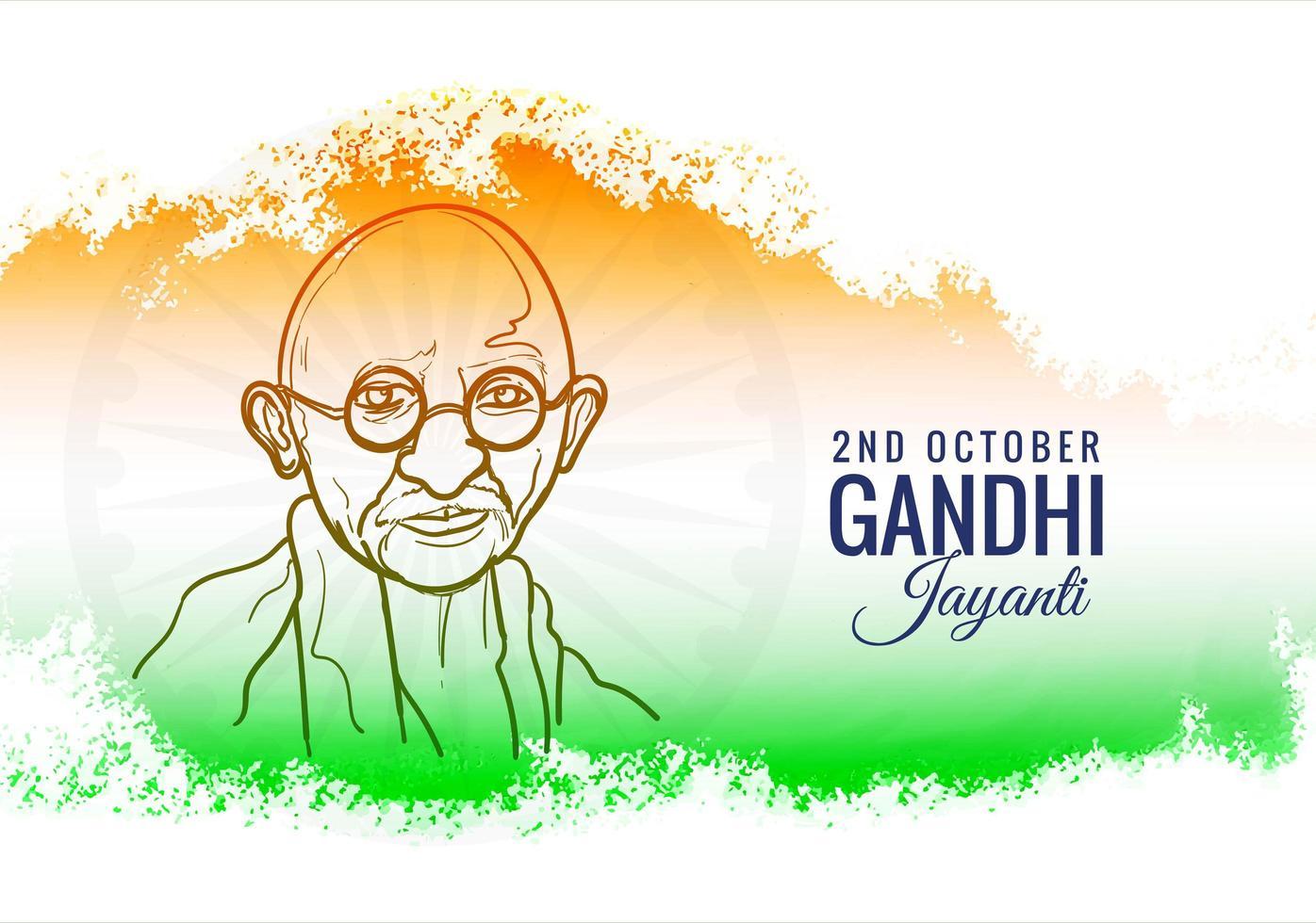 india achtergrond voor gandhi jayanti poster vector