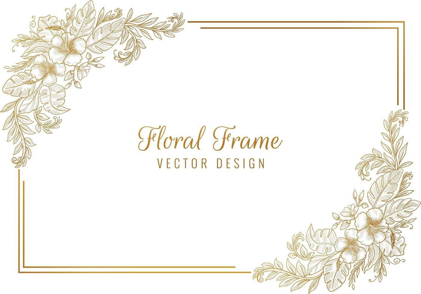 artistieke schets floral frame achtergrond vector