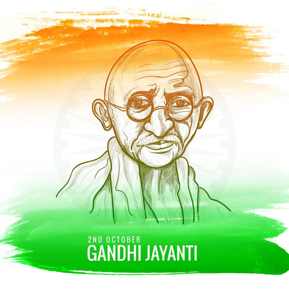 illustratie voor gandhi jayanti of 2 oktober nationale feestdag vector