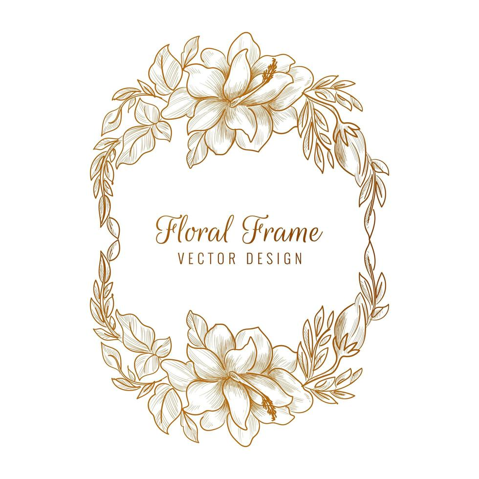 sier gouden decoratieve bloemen frame achtergrond vector