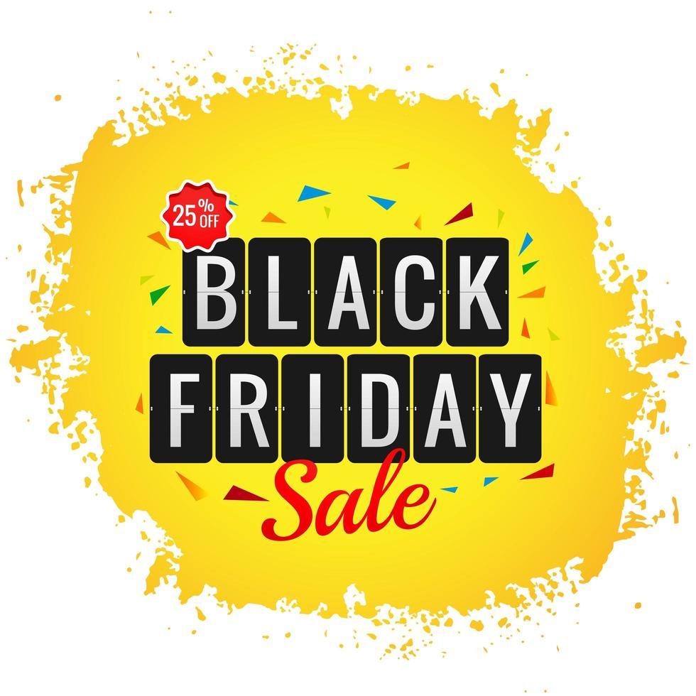 moderne zwarte vrijdag verkoop poster met splash achtergrond vector