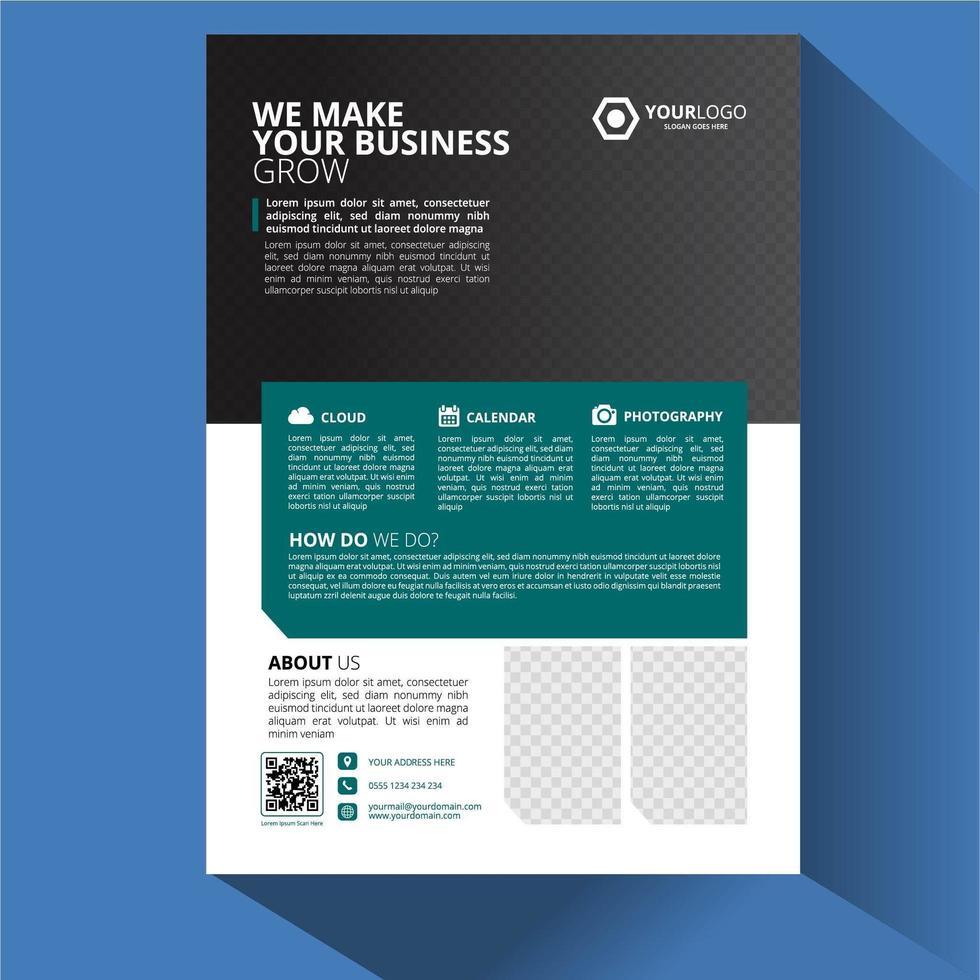 brochure sjabloon lay-outontwerp vector