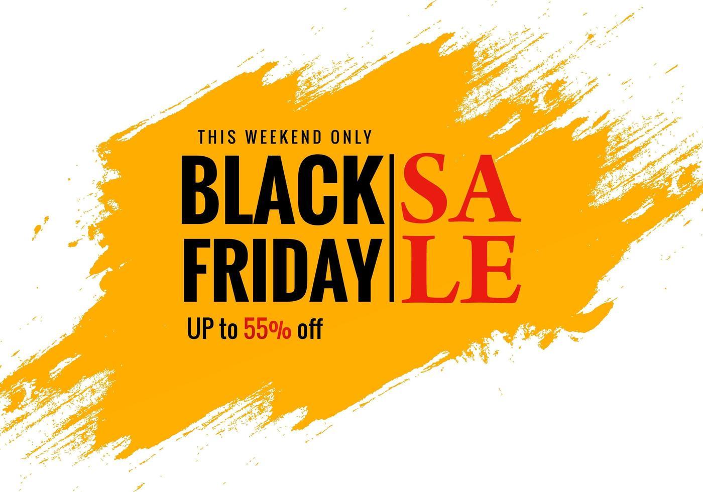 zwarte vrijdag exclusieve verkoopposter voor penseelbannerontwerp vector