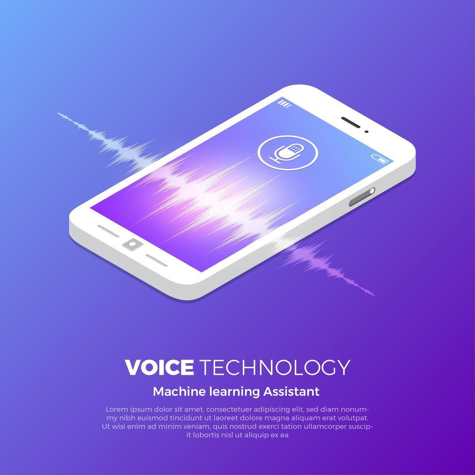 spraaktechnologie concept vector