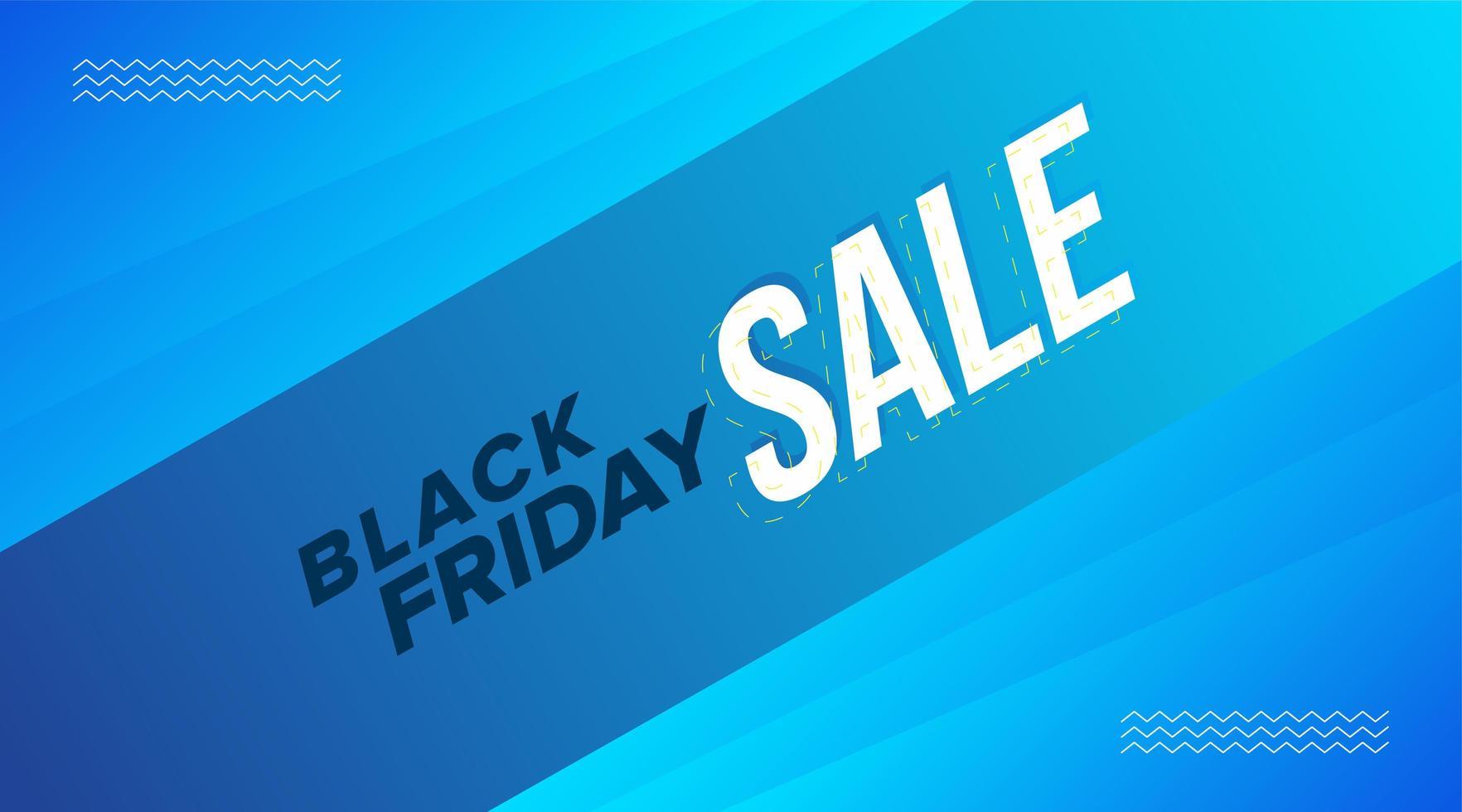 zwarte vrijdag verkoop blauw diagonaal bannerontwerp vector