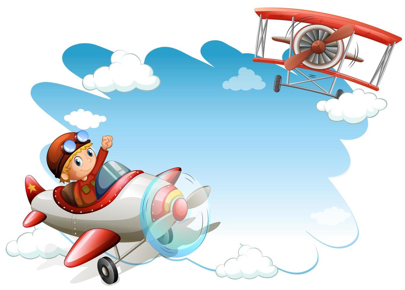 frame met vliegende jets vector