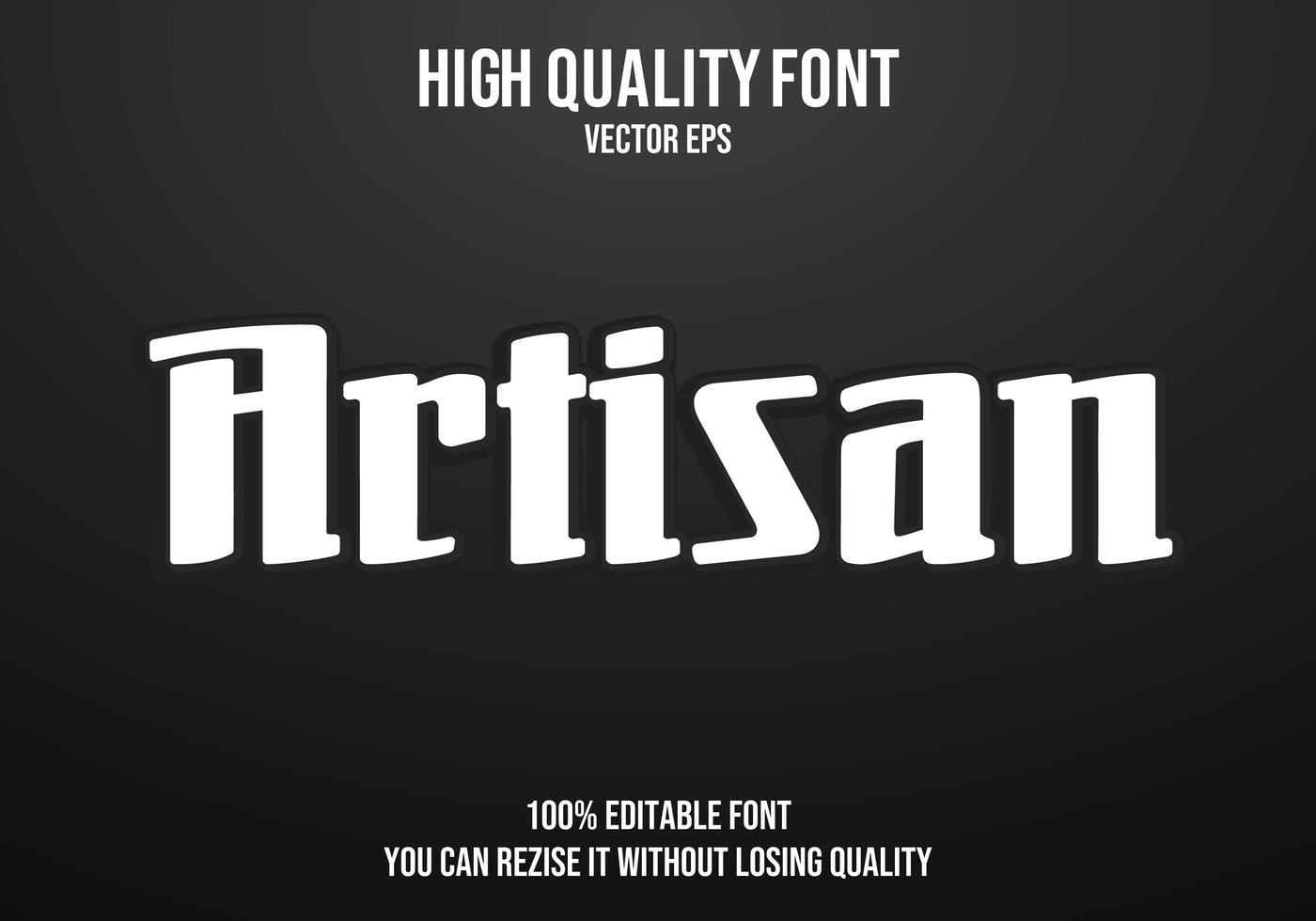 artisanaal bewerkbaar teksteffect vector