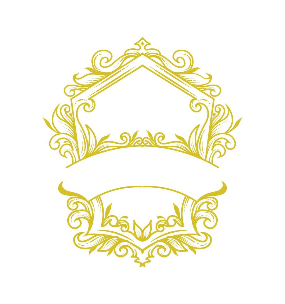 decoratief frame sjabloon vector