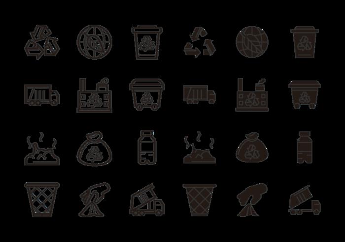 Vector pictogram van de stortplaats pictogrammen