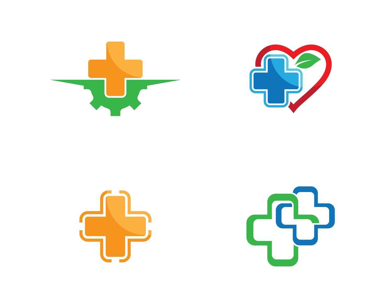 medische logo's ontwerpset vector