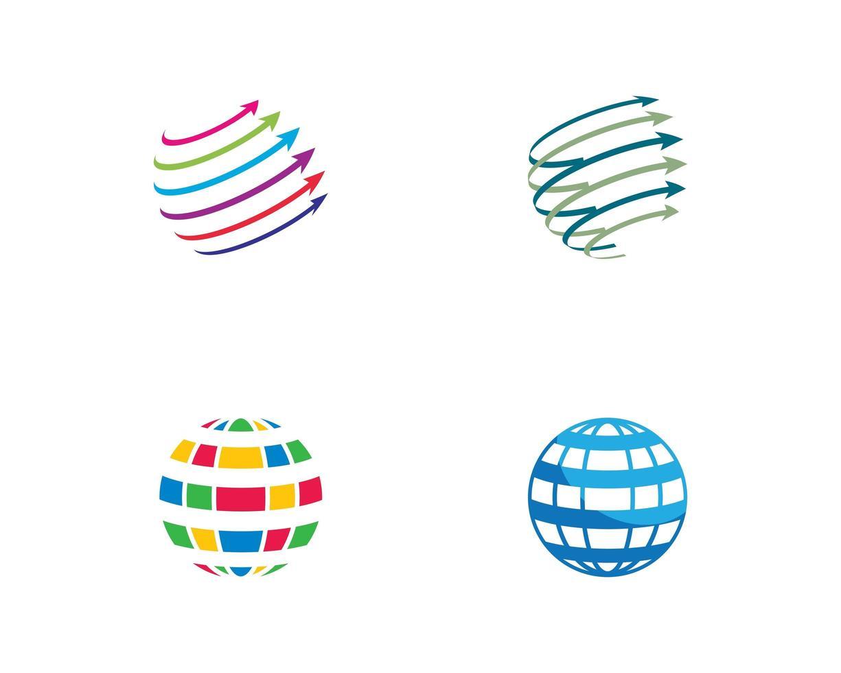 set van wereldwijde logo's vector
