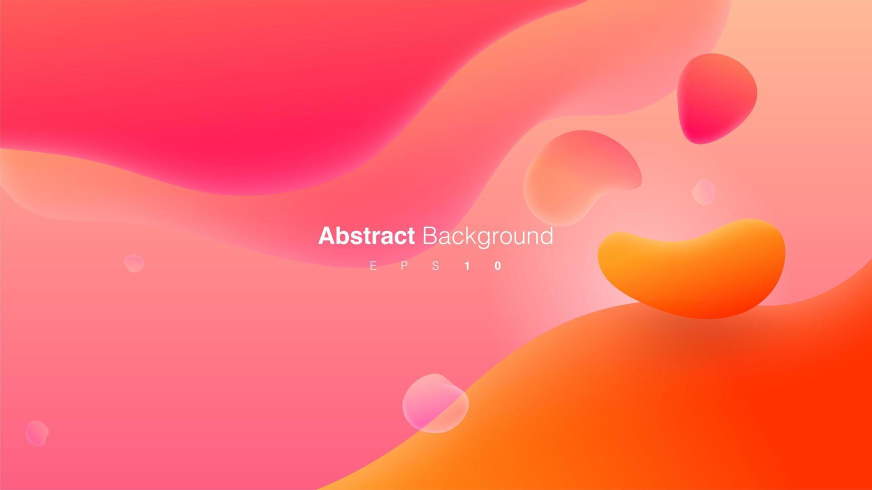 roze en oranje abstracte vloeibare vormensamenstelling vector