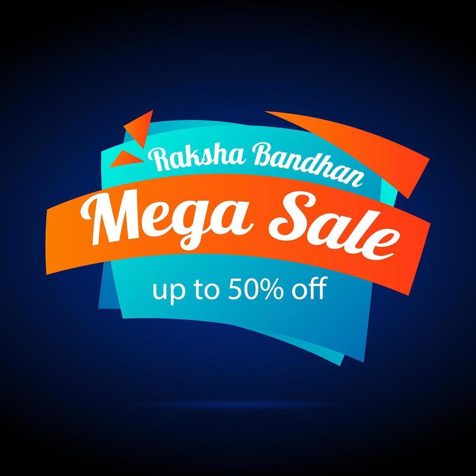 gelukkige raksha bandhan-verkoopbanner vector