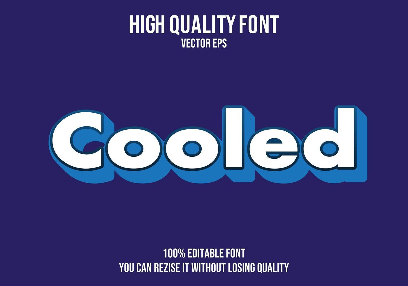 gekoeld bewerkbaar eenvoudig teksteffect vector