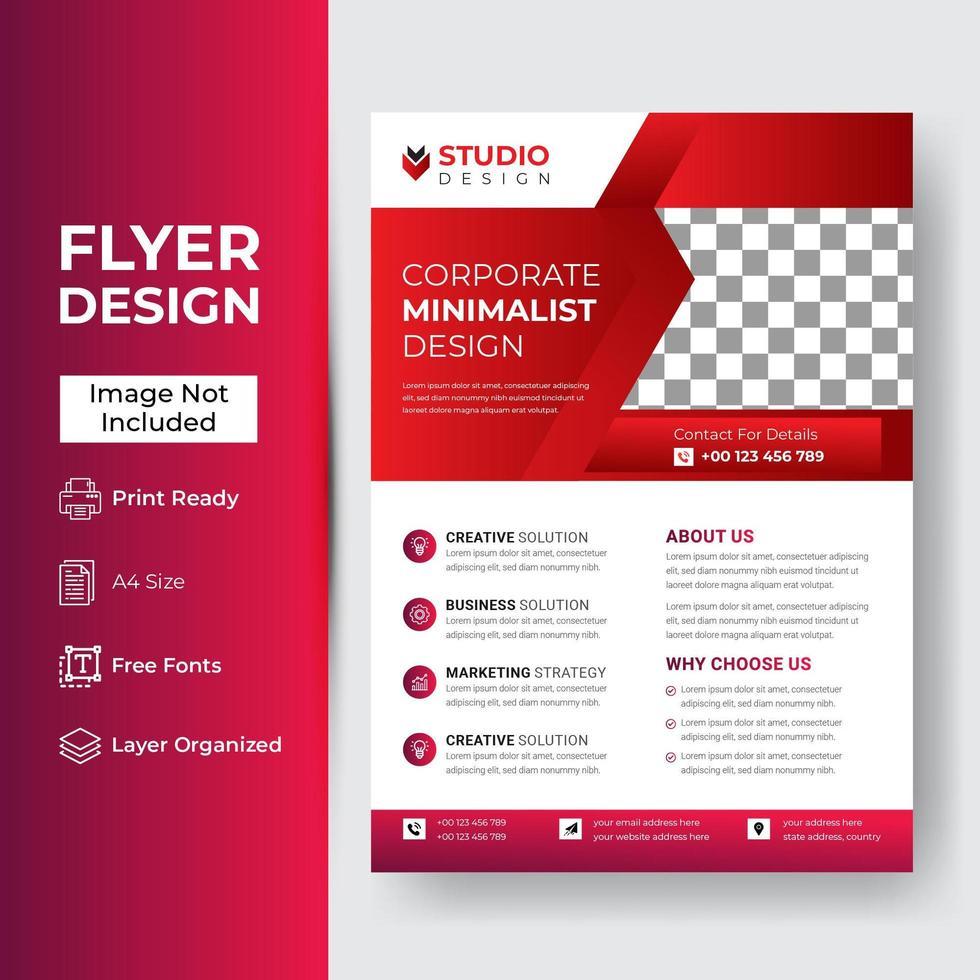 corporate flyer ontwerp voor het bedrijfsleven vector