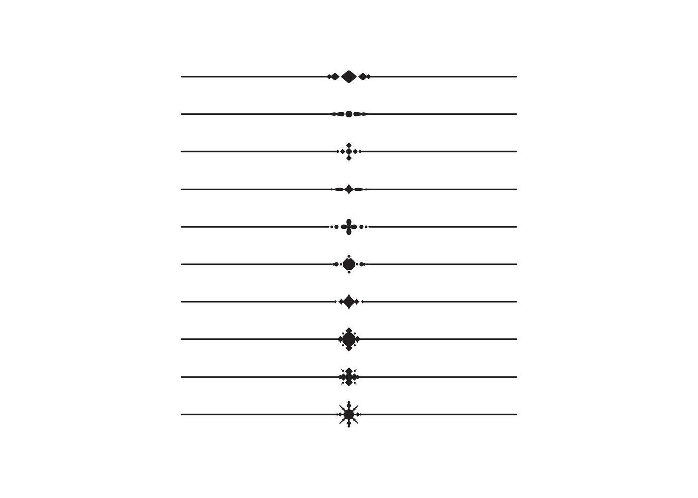decoratief lijnornament vector