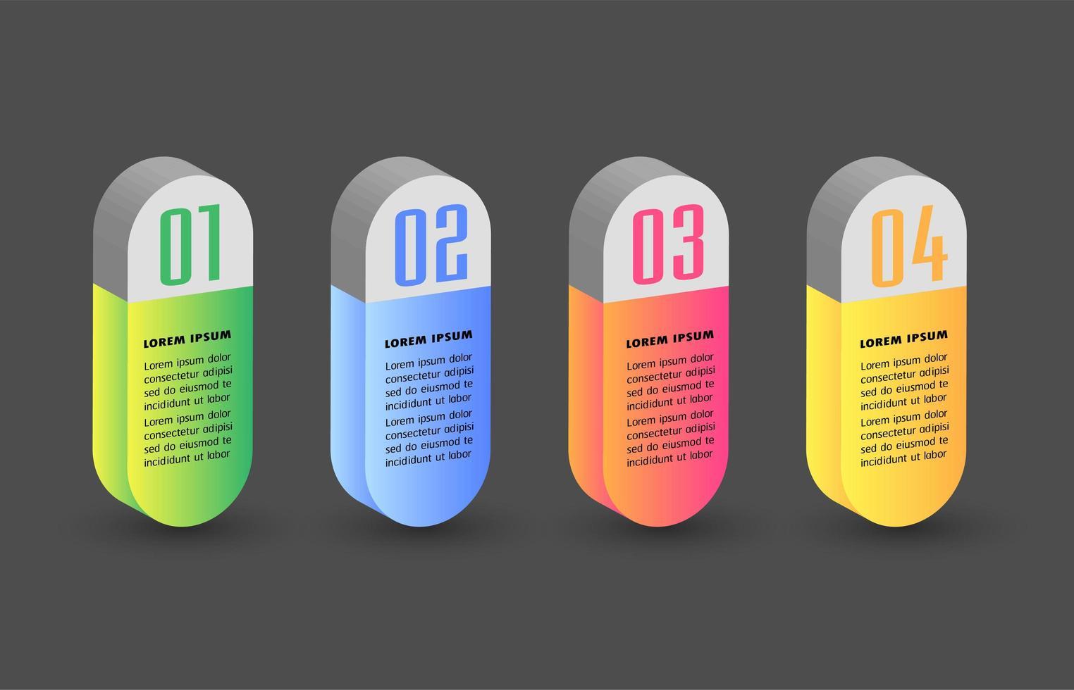 moderne 3d tekstvak sjabloon, banner infographics vector