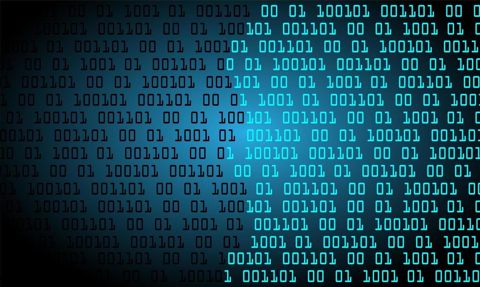 blauwe binaire cyber circuit toekomstige technische achtergrond vector