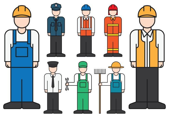 Mannelijke beroepen iconen vector