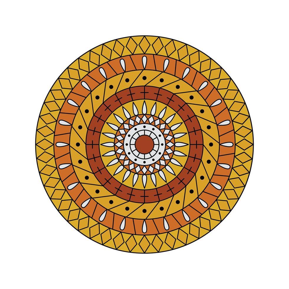 geel oranje mandala vector