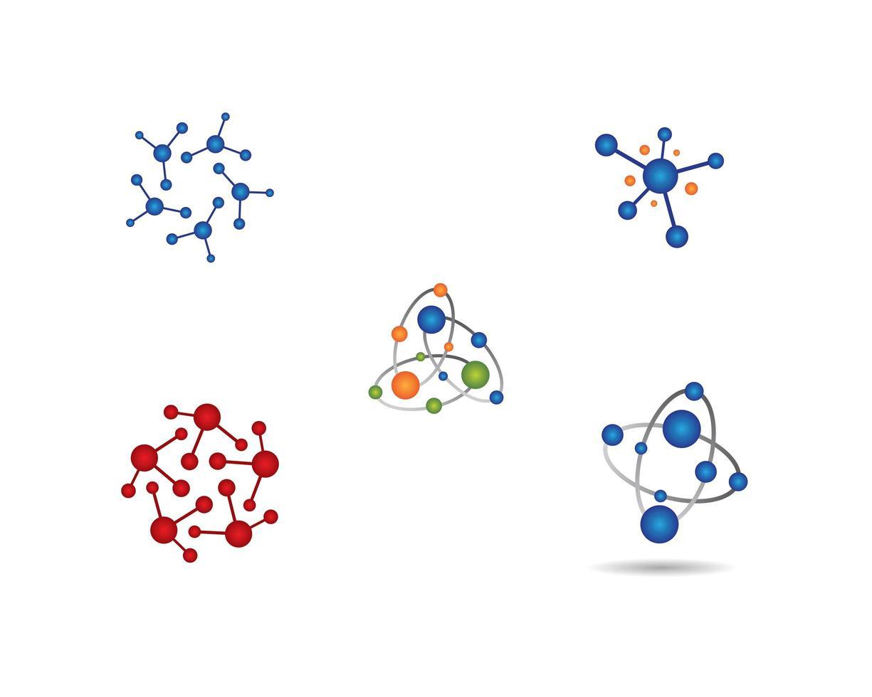 set atoomlogo-afbeeldingen vector