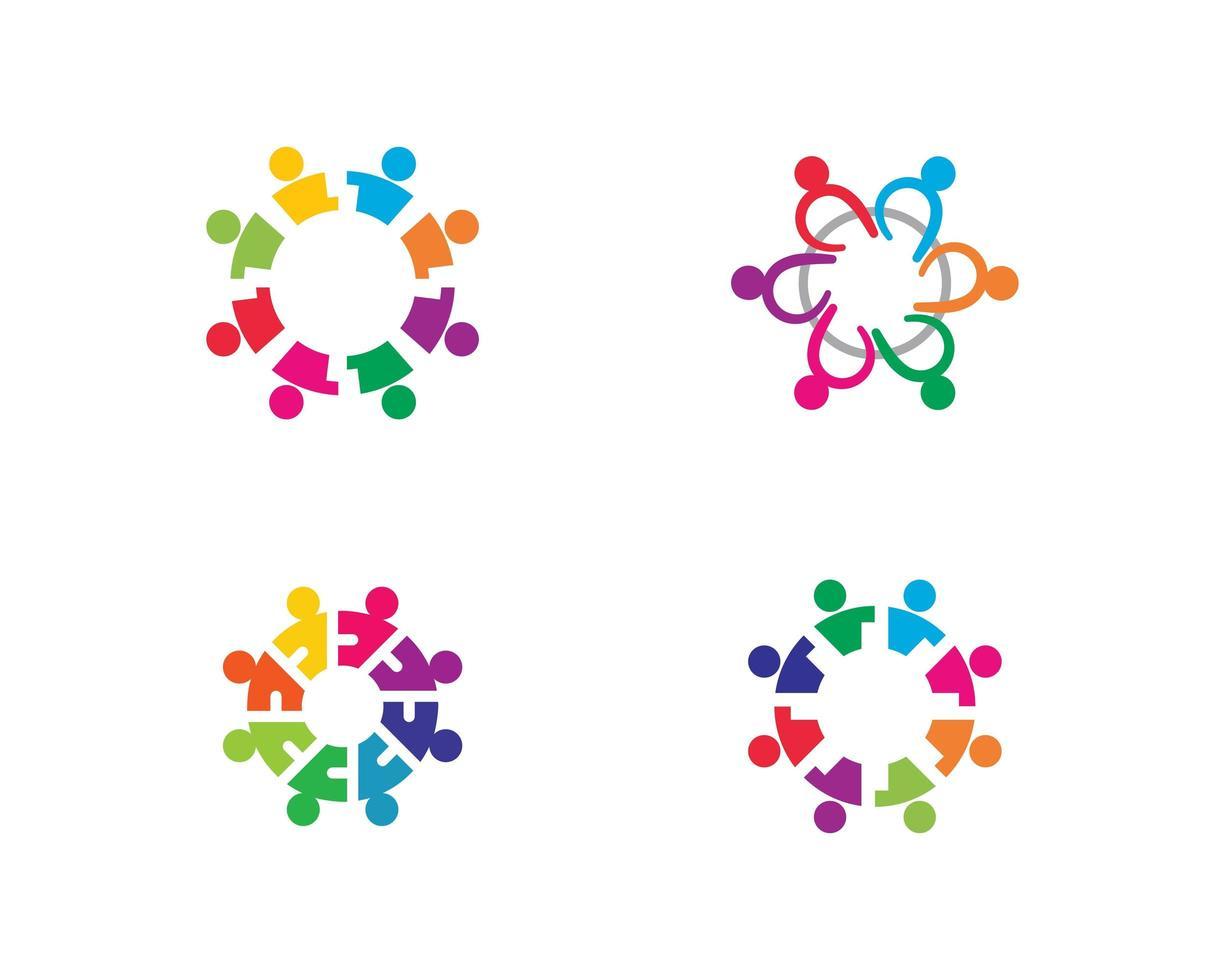 teamwerk pictogramserie vector