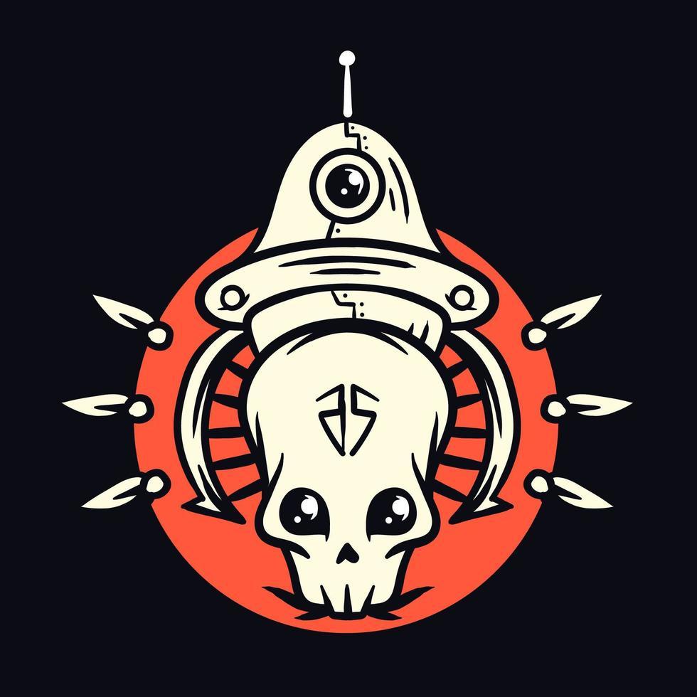 de buitenaardse schedel vector