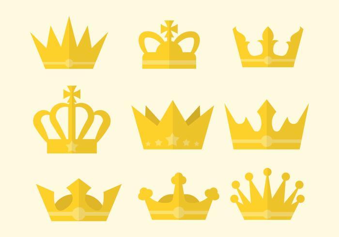 Gratis Platte Britse Kroon Vector