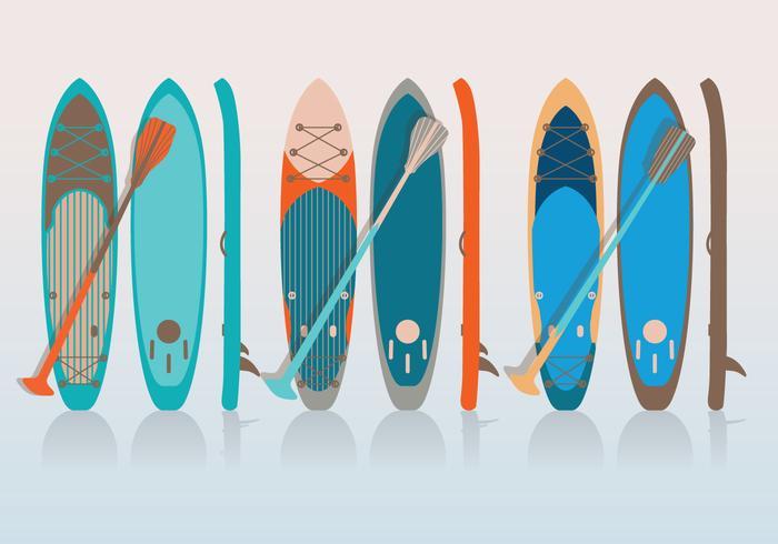 Paddle en board vector