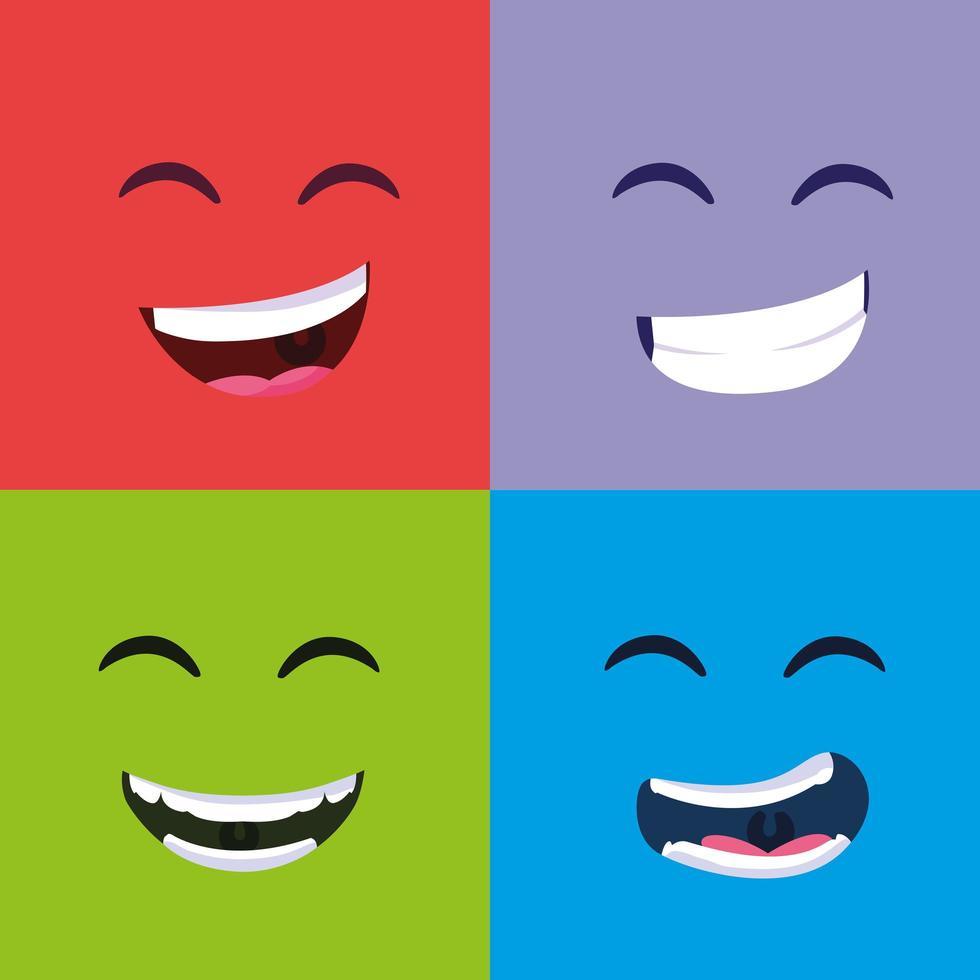 april dwazen dag glimlacht poster set vector